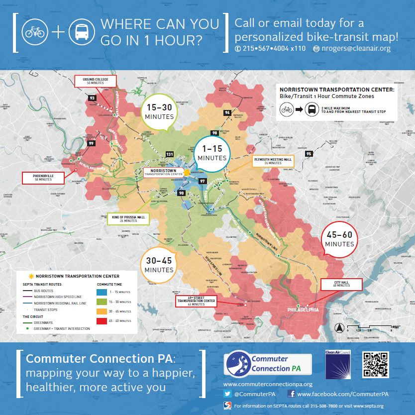 CommuteShed Map Coming to Norristown Transportation Center